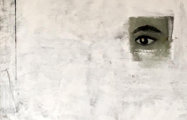 Gemaltes Auge Logo
