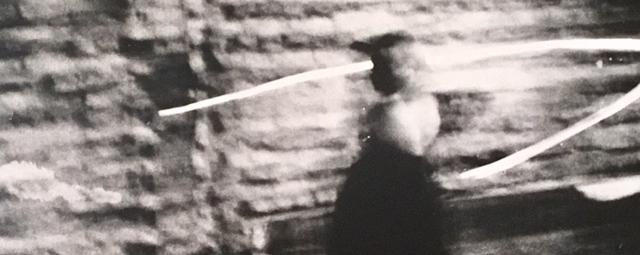 Schwarzweiß Foto eines Mädchens wie eine Solarisation